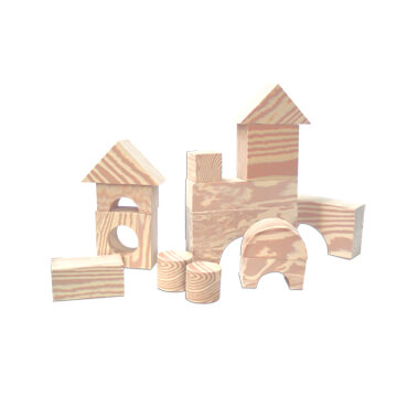 Wood Like Soft Blocks – 30pcs